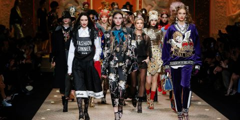 dolce and gabbana fall-winter 2018-19 women fashion show runway