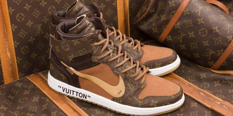 Off White x Louis Vuitton Off Louis Air Jordan 1 Custom