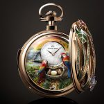 Parrot Repeater Pocket Watch Back