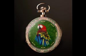 Parrot Repeater Pocket Watch Front